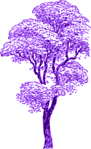 Purple Tree Clip Art