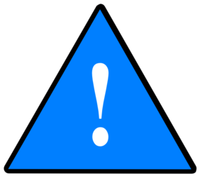 1a Guarded Risk Solid Blue Clip Art