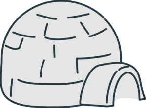 Light Grey Igloo Clip Art
