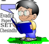 Boy Books Reading Clip Art