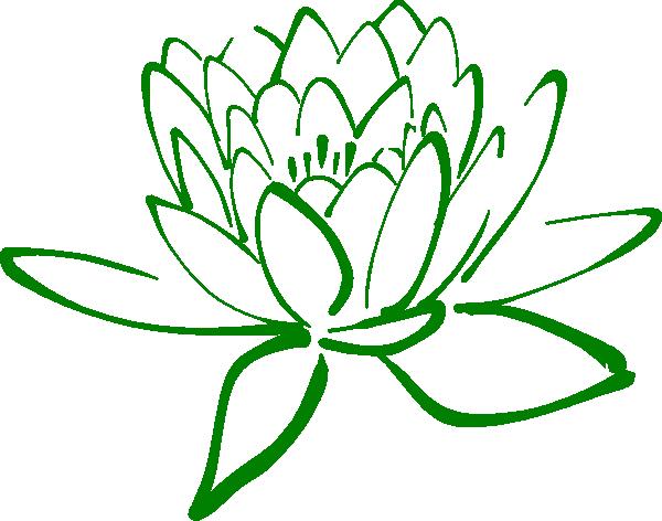 Green Lotus Clip Art At Clkercom Vector Clip Art Online Royalty
