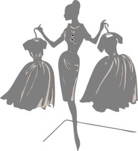 Gray Bride With Dresses Clip Art