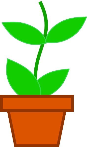 clipart flower in pot - photo #36