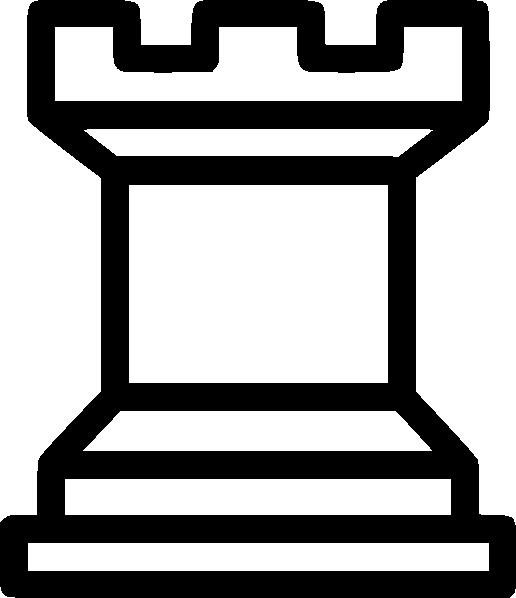 white rook clip art at clkercom vector clip art online
