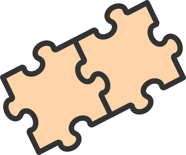 2 Puzzle Pieces Clip Art at Clker.com - vector clip art ...