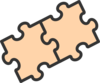 2 Puzzle Pieces Clip Art