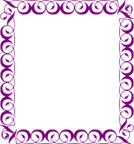 fancy purple borders clipart rh worldartsme com purple lace border clip art free purple border clip art