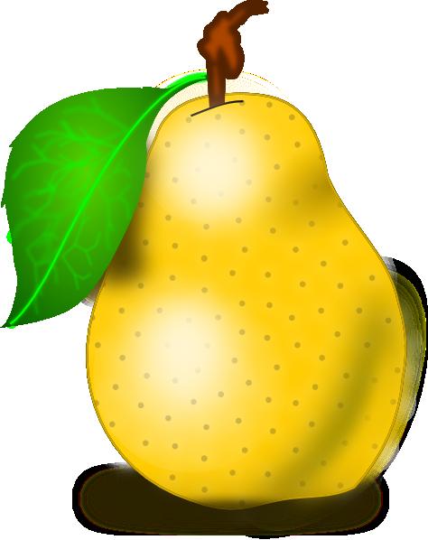 Pear Clip Art at Clker.com - vector - 205.0KB