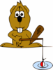Beaver Fishing Clip Art