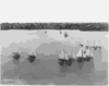 [sailboats Sailing]: Corinth Y[acht] C[lub] Race, Boston, 6 Aug. 1898 Clip Art