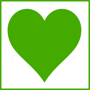 Green Heart Icon Clip Art