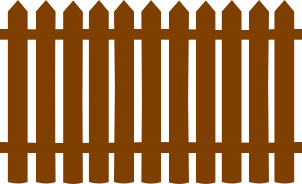 Brown fences clip art at clker vector