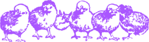 Chicks Purple  Clip Art