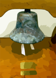 A Bell Donated By The Late Adm. Arleigh Burke Was Recovered From The Rubble After The Sept. 11, 2001 Attack On The Pentagon. Clip Art
