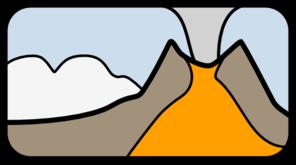 Volcano 3 Clip Art