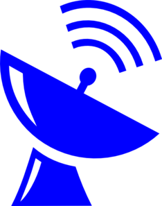 Blue Satellite Clip Art