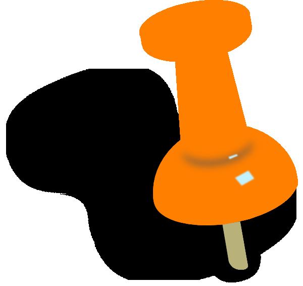 Orange Push Pin Clip Art at Clker.com - vector clip art online ...