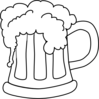 Beer Mug Outlined Clip Art