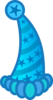 Blue Party Hat Clip Art