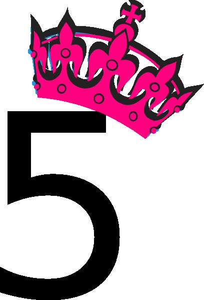 Pink Tilted Tiara And Number 5 Clip Art at Clker.com - vector clip art ...