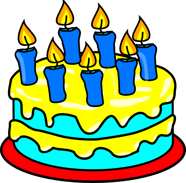 Clip Art Of Birthday Cake : Cake 7 Candles Clip Art at Clker.com - vector clip art ...