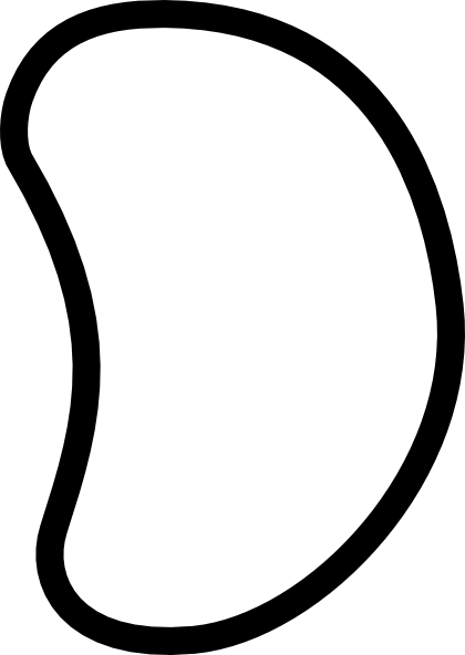 Bean Clip Art at Clker.com - vector clip art online, royalty free ...