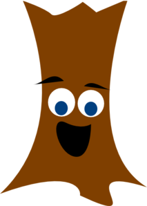 Tree Trunk With Face Clip Art