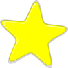 Yellow Star Edited2 Clip Art