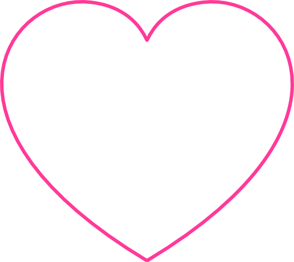 Pink blank heart clip art at clker vector clip art online download this image as ccuart Image collections