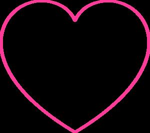 Pink Blank Heart Clip Art Empty Heart Symbol