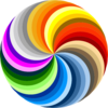 Pinwheel Of Colors Clip Art