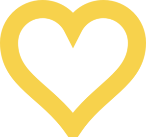 Thick Light Gold Heart Clip Art