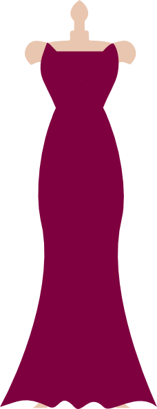 bridesmaid dress purple clip art at clkercom vector