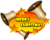 Merry Christmas Bell Banner Clip Art