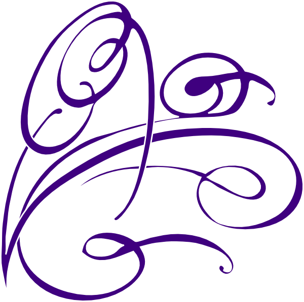Decorative Swirl Purple Clip Art at Clker.com - vector ...