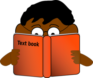 Boy Reading Book Clip Art