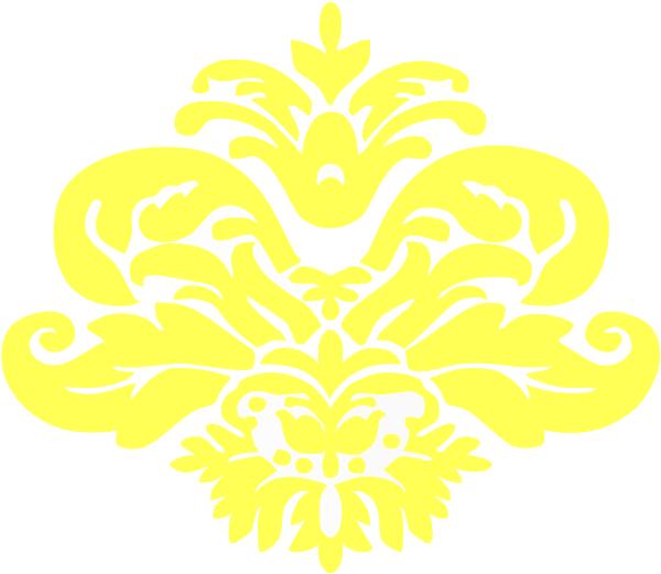 Yellow Damask Pattern Clip Art At Clker Com Vector Clip