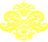 Yellow Damask Pattern Clip Art
