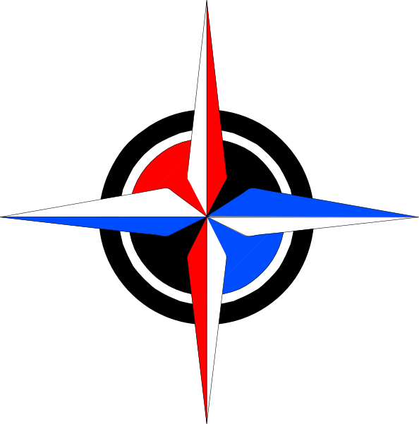 Blue & Red Compass Rose Clip Art at Clker.com - vector clip art online ...