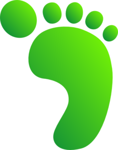 Green Feet Clip Art