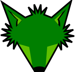 Blank Green Fox Head Clip Art
