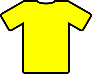 Yellow T-shirt Icon Clip Art