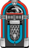 Red And Blue Jukebox Clip Art