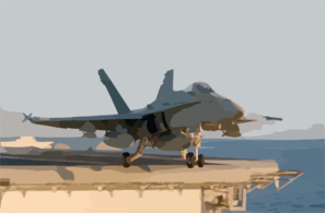 F/a-18c Hornet Launches From One Of Four Steam Powered Catapults On The Ship S Flight Deck Clip Art