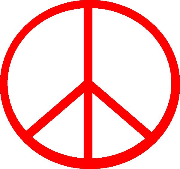 Red Transparent Peace Clip Art at Clker.com - vector clip ...
