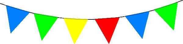 Bright Rainbow Bunting Clip Art at Clker.com - vector clip ...