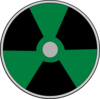 Green Atomic Warning Clip Art