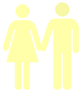 Man And Woman Butter Yellow Clip Art
