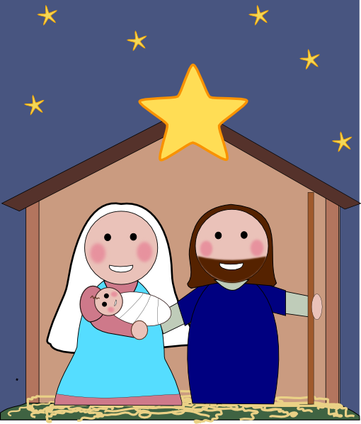 Nativity Scene Clip Art at Clker.com - vector clip art online, royalty ...