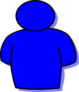 Person Shape Blue Clip Art
